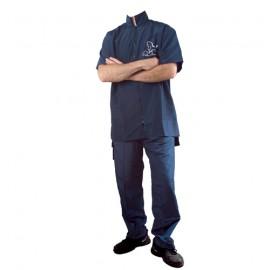 """Preciosa"" blue short-sleeved overall"