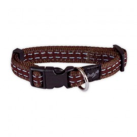 Doogy dotted nylon collar - Brown