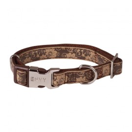 Envy Flora dog collars - Brown