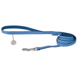 Mc leather dog lead - Blue