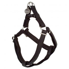 Mc leather dog harness - Black