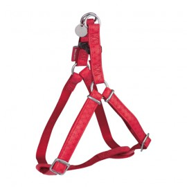 Mc leather dog harness - Red