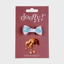 Doogy knot with purple spots