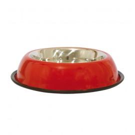 Stainless steel non-slip bowl - Red