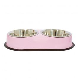 Dual bowls set - Pink