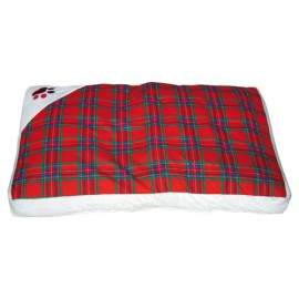 Doogy Scottish padded bed - Red