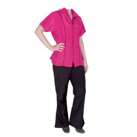 """""""Angela"""" pink short-sleeved overall"""