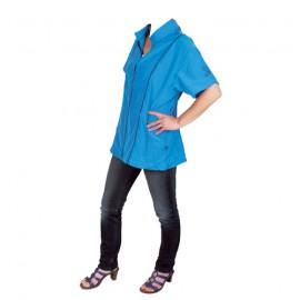 """Angela"" blue short-sleeved overall"