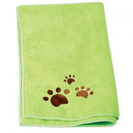 IdealDog set of 2 microfiber towels - Green