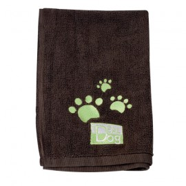 IdealDog set of 2 microfiber towels - Brown