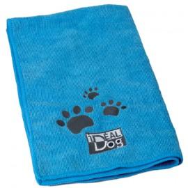 IdealDog set of 2 microfiber towels - Blue
