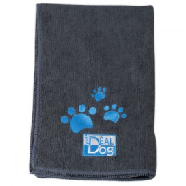 IdealDog set of 2 microfiber towels - Grey