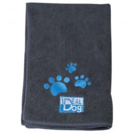 IdealDog set of 2 microfiber towels - Grey