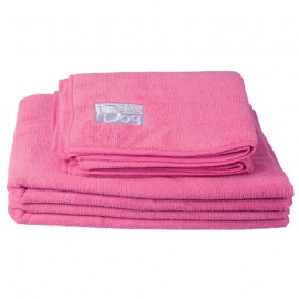 IdealDog set of 2 microfiber towels - Pink