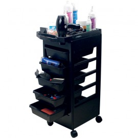 Black grooming trolley
