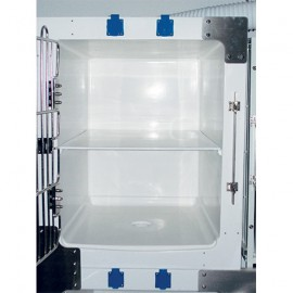 Adaptable top 1/2 to divide modular cage M