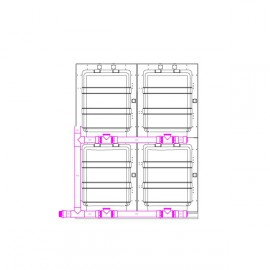 Kit to assemble 4 modular cages M