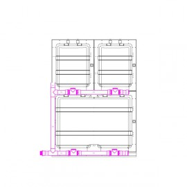 Kit to assemble 1 modular cage L and 2 modular cages M