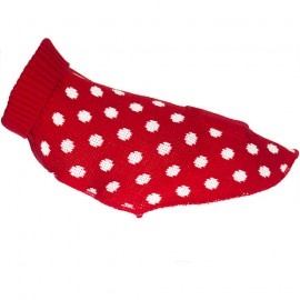 Doogy Fun polka dot sweater - Red