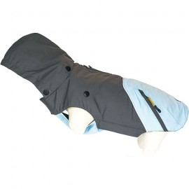 Doogy 2 in 1 tampa raincoat - grey / blue