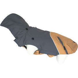 Doogy 2 in 1 tampa raincoat - grey / peach