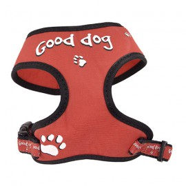 "Doogy fantaisie tee-shirt harness - ""Good dog"" red"