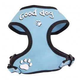 "Doogy fantaisie tee-shirt harness - ""Good dog"" blue"