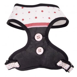 Doogy fantaisie tee-shirt harness - pink polka dot