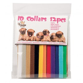 Set of 12 Id collars for puppies