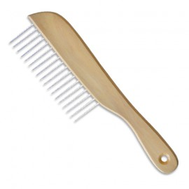 Wooden handle comb for poodle