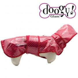 "Doogy ""Sweet Dots"" raincoat - Red"