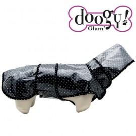 "Doogy ""Sweet Dots"" raincoat - Black"