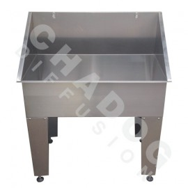 Stainless steel grooming bathtub - small model