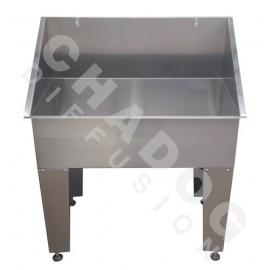 Stainless steel grooming bathtub - small model