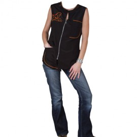 """Carina"" orange sleeveless overall"