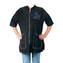 """""""Letizia"""" blue short-sleeved overall"""
