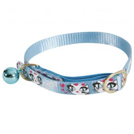 Ladycat cat collar - Blue