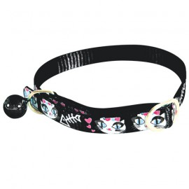 Ladycat cat collar - Black