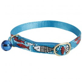 Sardine cat collar - Blue