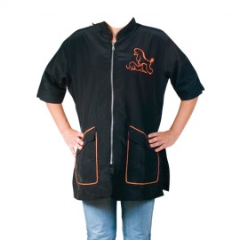 """""""Letizia"""" orange short-sleeved overall"""