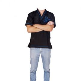 """""""Daniela"""" blue short-sleeved overall"""