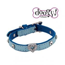 Pretty collar lead - Heart Blue