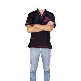 """Daniela"" pink short-sleeved overall"