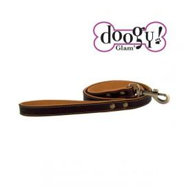 Cognac Leather Lead