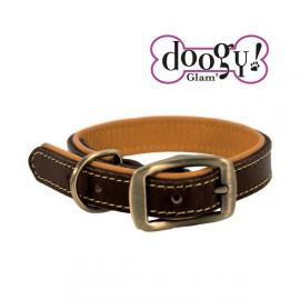 Cognac Leather Collar