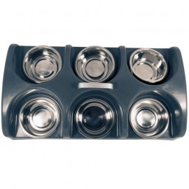 6 bowls feeder with handle