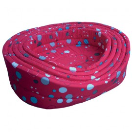 5 design baskets' set - Red Bublles