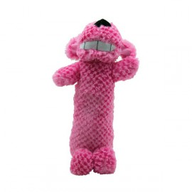 Loofah Pink cuddly dog toy