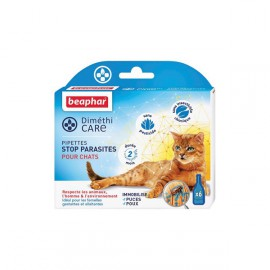 Dimethicare, pipettes stop parasite cat x6