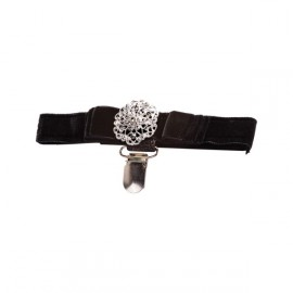 Jewelled Velvet Armband-Medium 26-37 cm